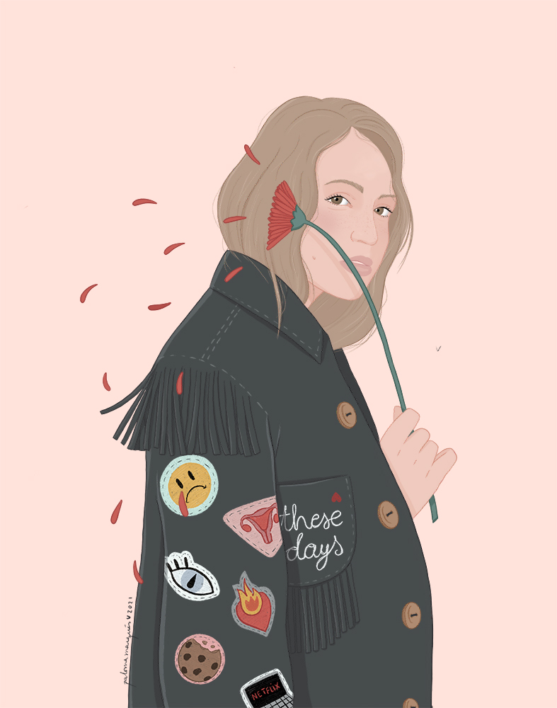 Ilustración Blood Mood de Paloma Marqués